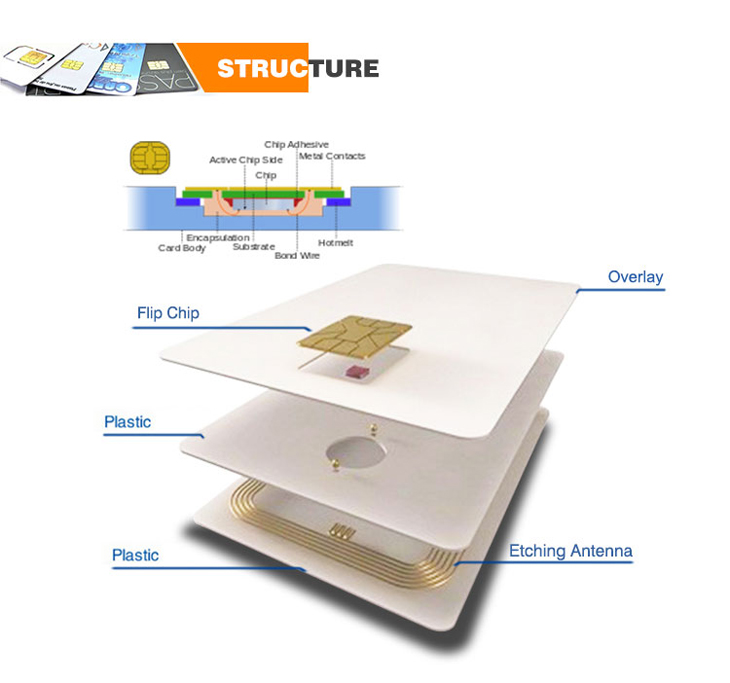 Plastic Contact Smart Card Structure