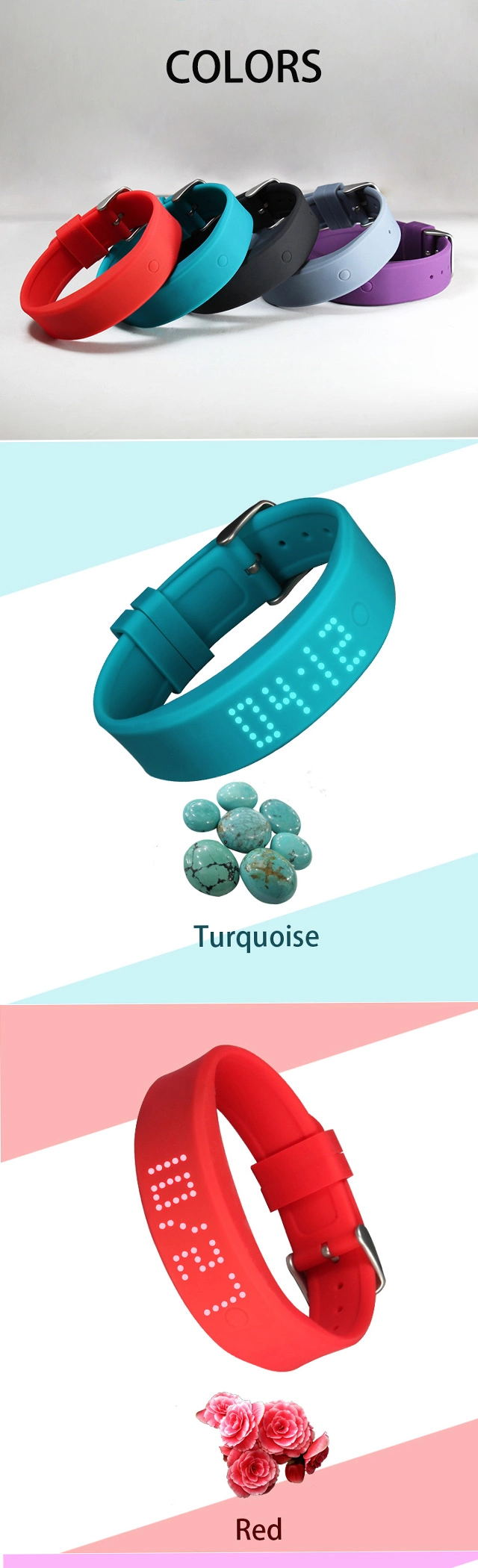 Colorful Silicone RFID Sport Wristband