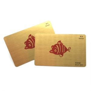 Carte de membre Gold Metal Effect