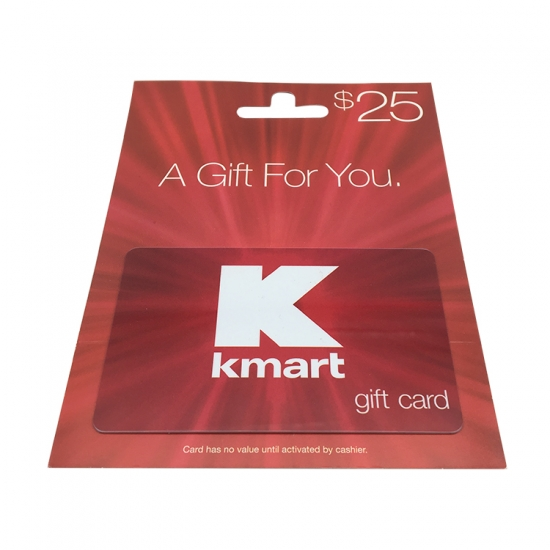gift business promotional card with customized paper backer/holder